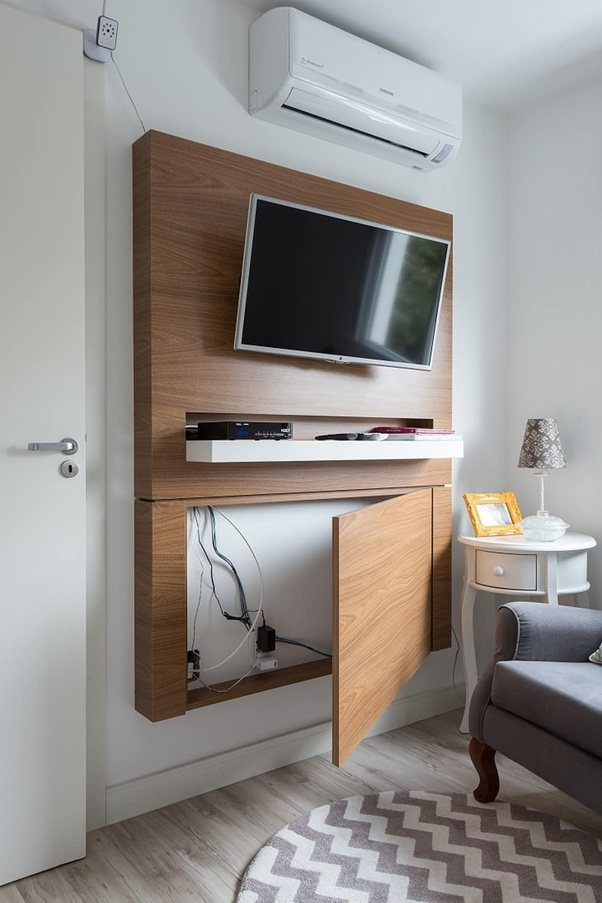 Mueble Ocultar Tv How To Hide The Cables From A Mounted Tv On A Concrete