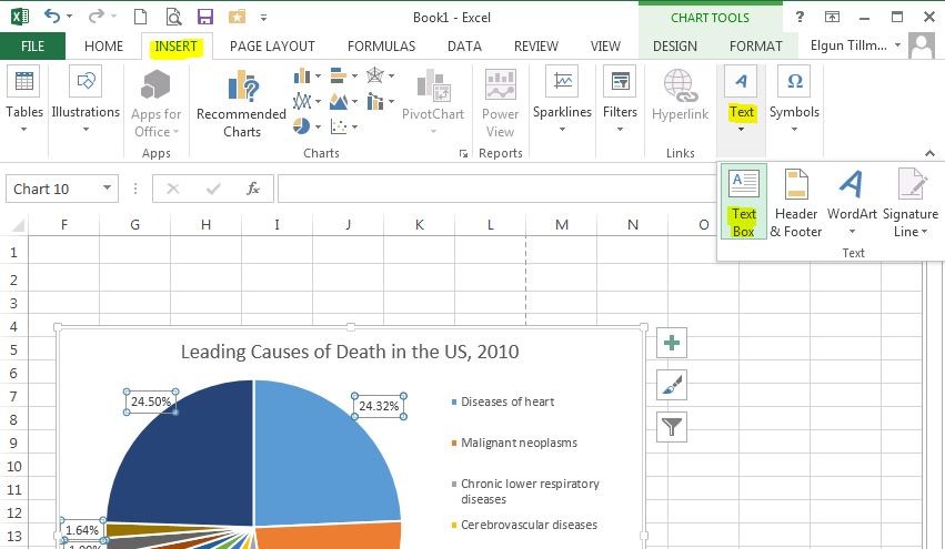 Creating Graphs in Excel 2013 - types of excel charts