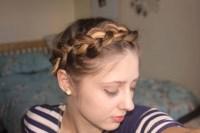 Short, fine hair tutorial: Easy Crown Braid / Plait ...