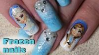 Disney Inspired; Frozen Nail Art  Tutorial/Timelapse ...