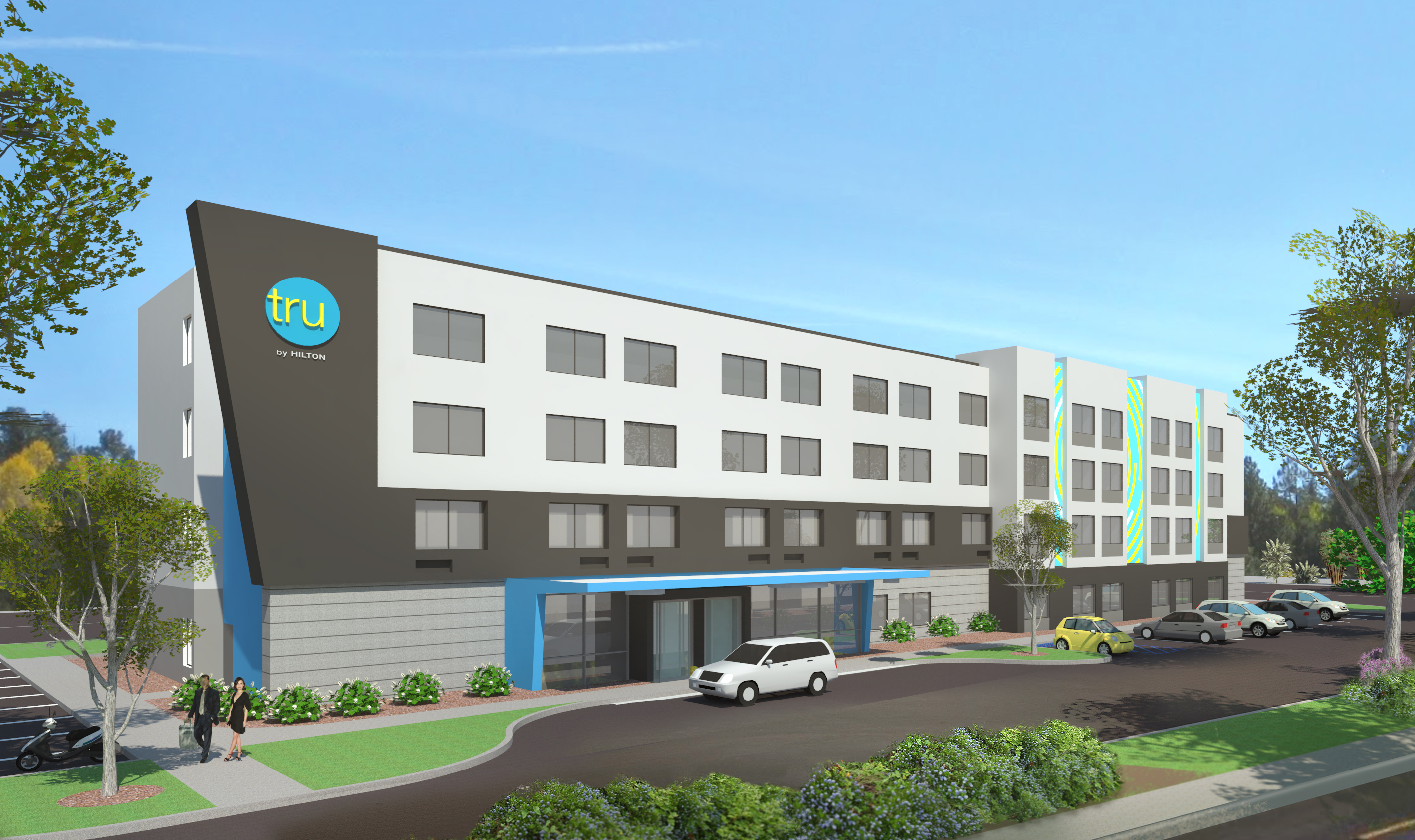 Hotel Exterior Design How Hilton Brought Its Tru Brand To Life Hotel Management