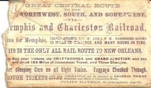 ticket memphis and charleston railroad