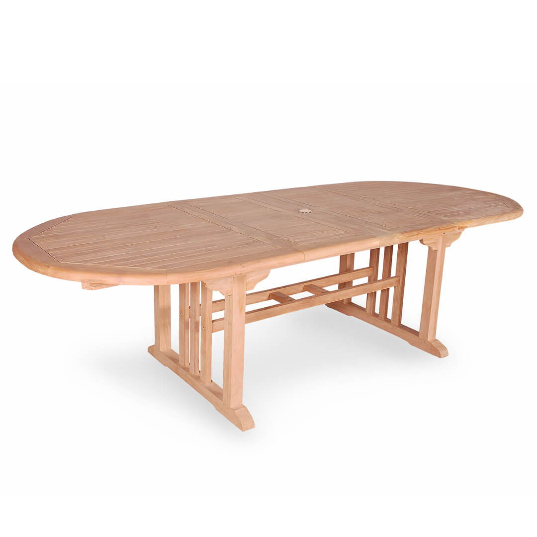 Extension Table Buy Teak Oval Double Extension Table From Indonesia For