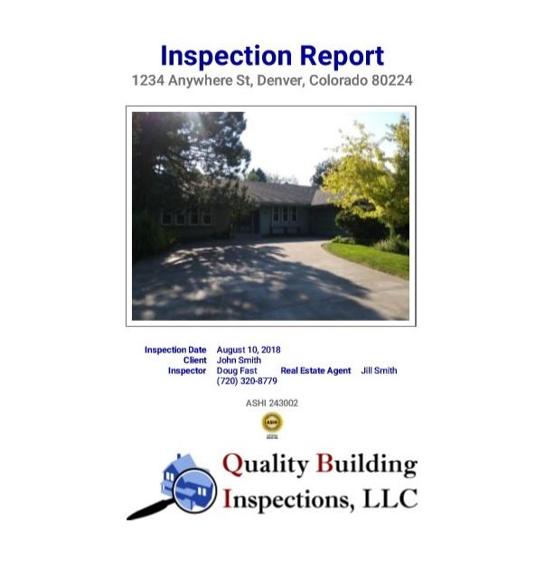 Sample Report \u2013 Quality Building Inspections, LLC