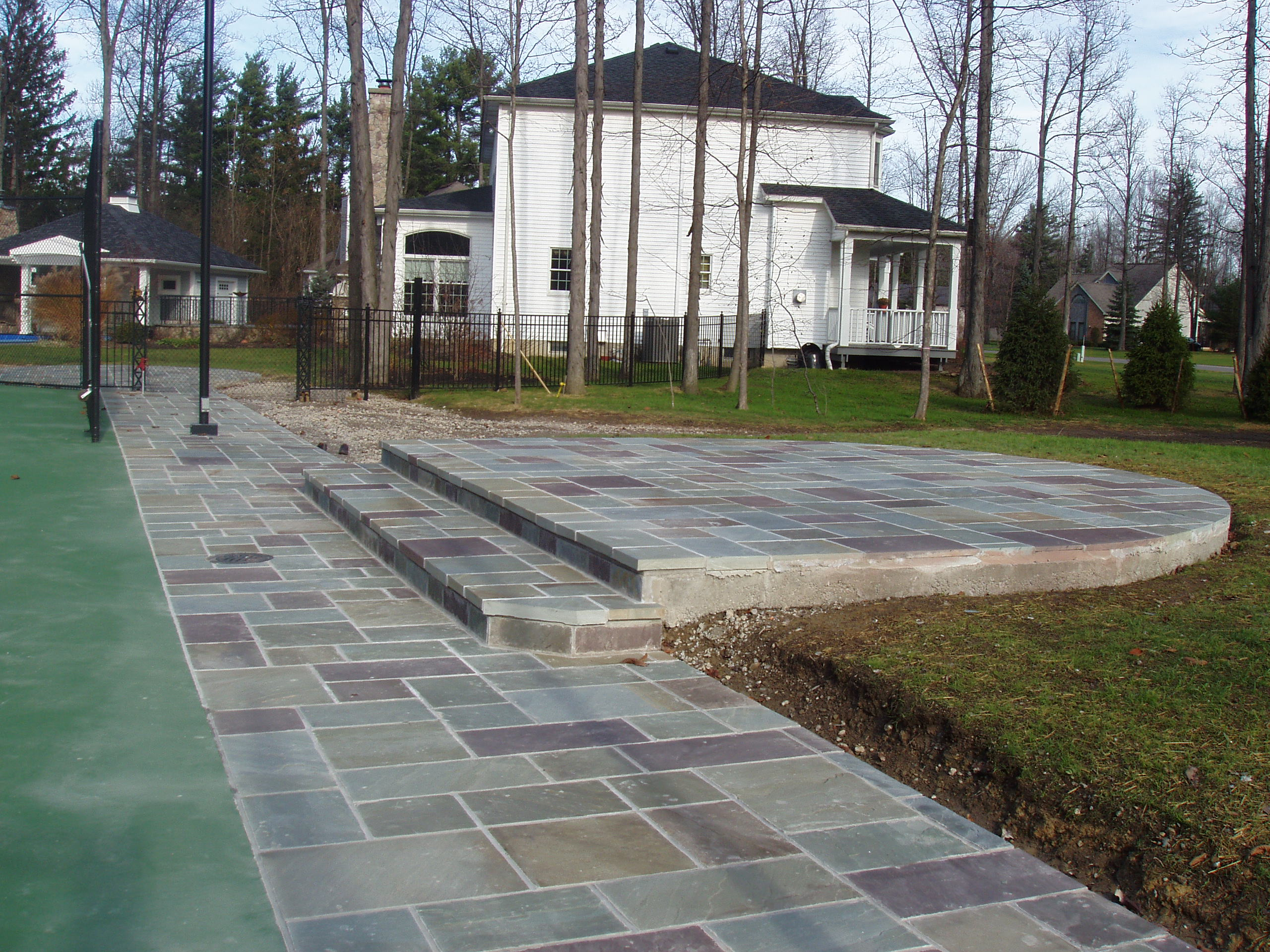 stone patio custom work in buffalo