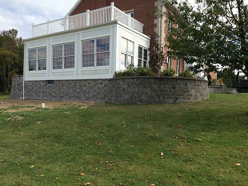 Completed Retaining Wall buffalo ny