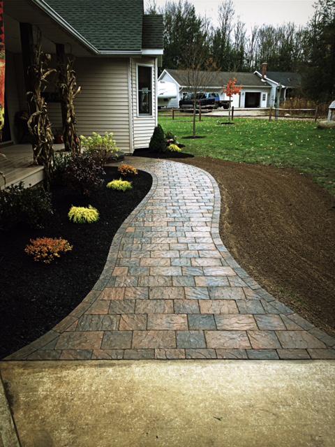 Custom Brick Paved Sidewalks