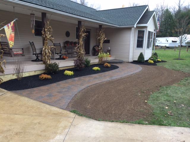 custom brick paved sidewalkcustom brick paved sidewalk