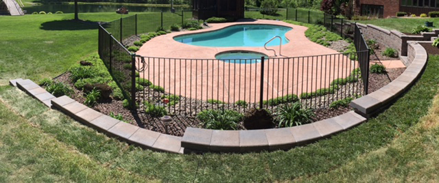 Custom Swimming Pool Retaining Wall Panorama