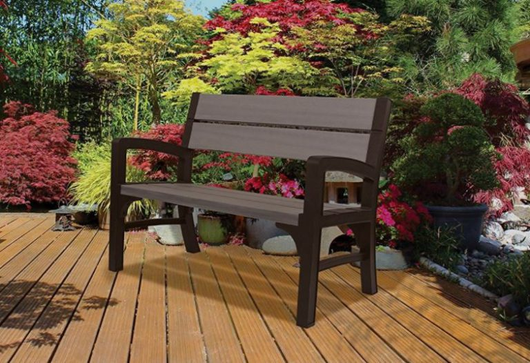 Keter High Store Resin Garden Bench Seat - Quality Plastic Sheds