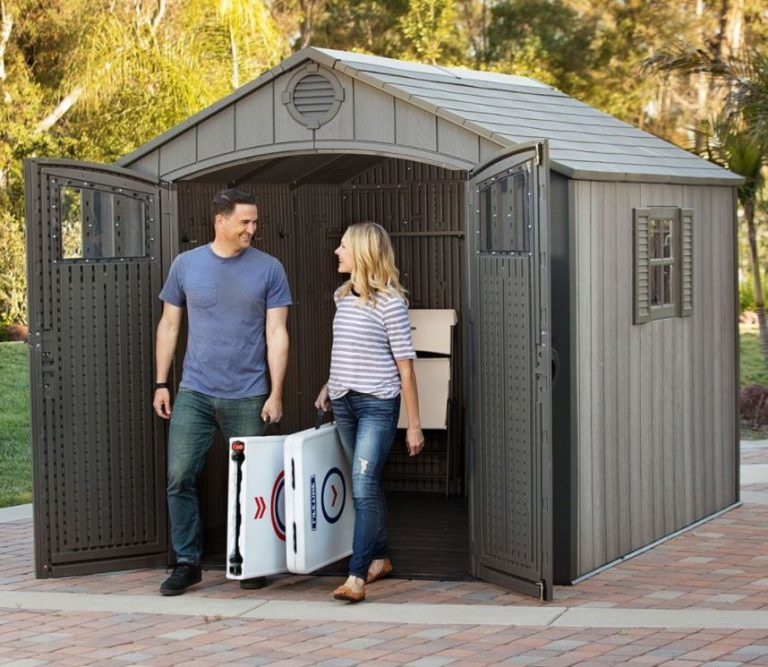 Abstellhaus Garten Lifetime Rough-cut Shed - Quality Plastic Sheds