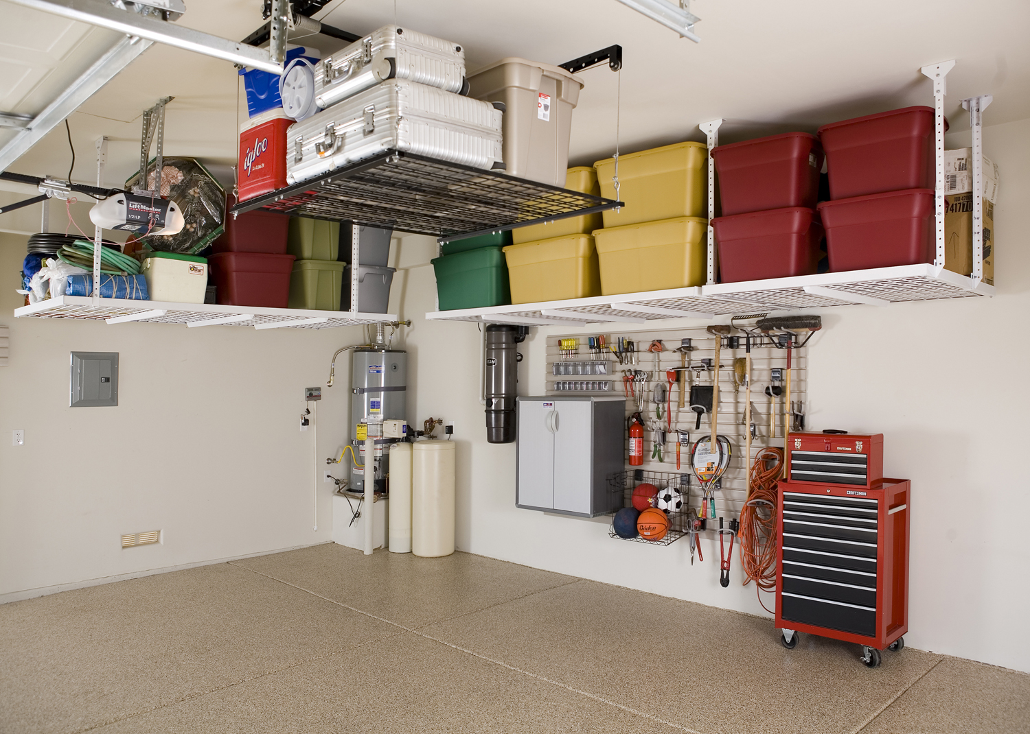 Accessories For Garage Garage Organizers Overhead Storage Racks Slatwall Wall Storage