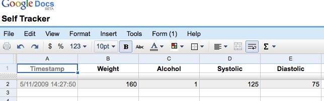 Make Your Own Mobile Self Tracker with Google Docs - Quantified Self
