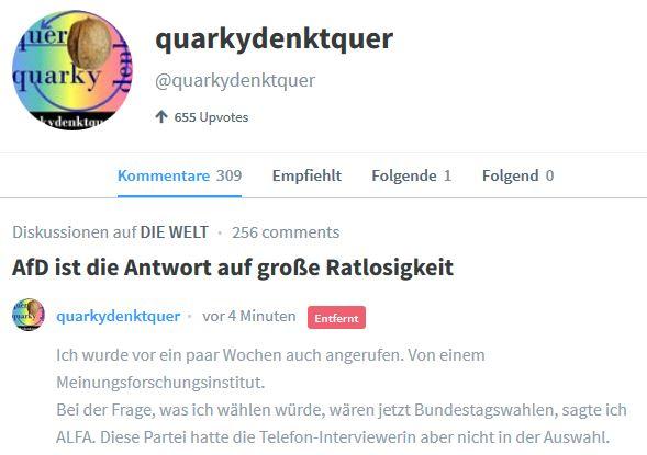 Neueste Zensur bei WeLt.de