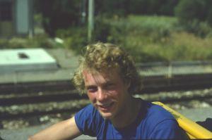 Portrait im offenen Waggon Petit Train Jaune 1980