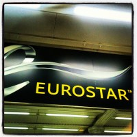 Saída do Eurostar de Londres!