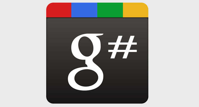 Google Plus hashtag update