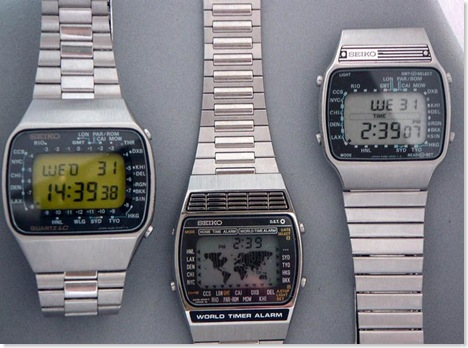1970s Seiko Quartz LCD watches