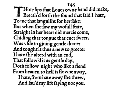 Sonnet Commentaries 142 153