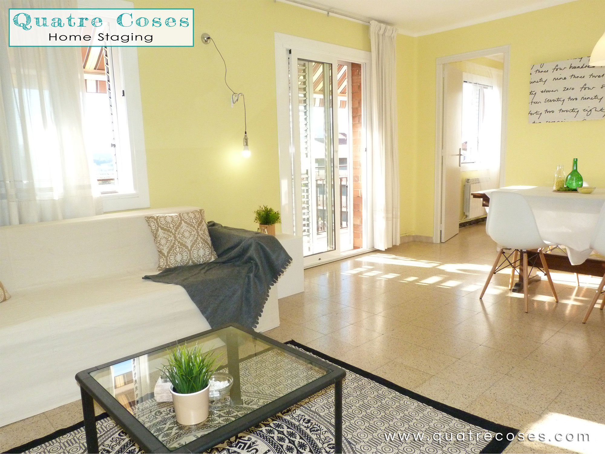 Home Staging Salon Quatre Coses Home Staging En Piso Amueblado En Les