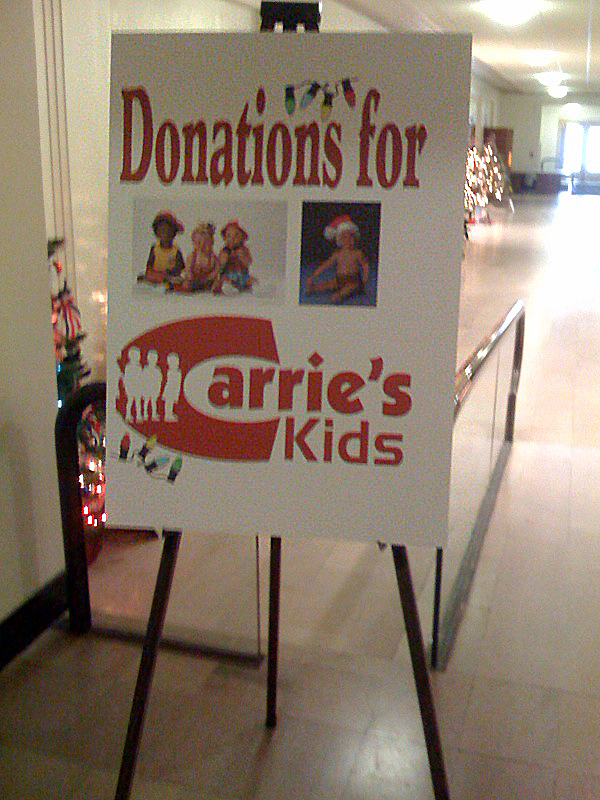 image of carries kids sign