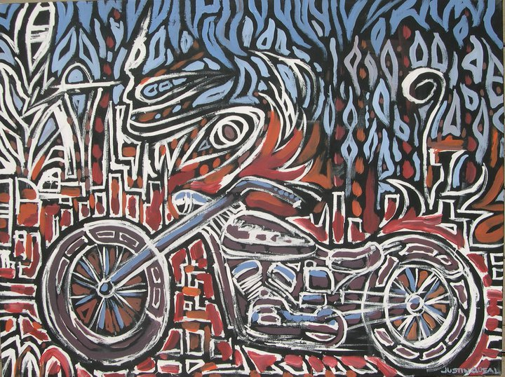 Live Painting.  2010  Cycle.  SOLD