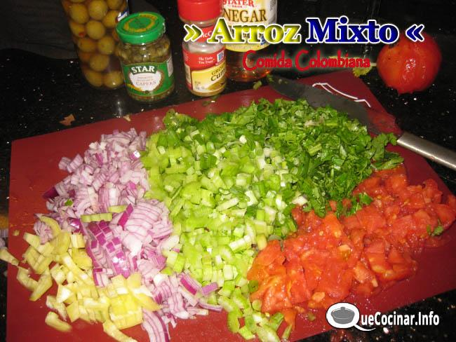 arroz mixto colombiano