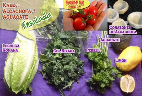 Ensalada de col rizada alcachofa y aguacate - Cocinar col kale ...