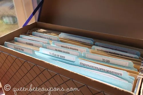 Organizing your bills, household paperwork, receipts and more