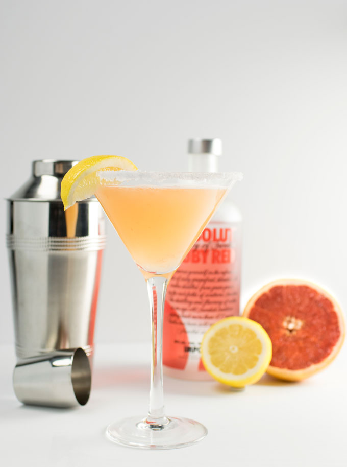 Ruby Red Lemondrop Martini