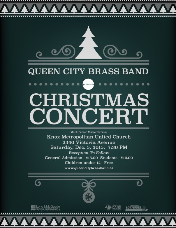 Queen City Brass Band 2015 Christmas concert poster