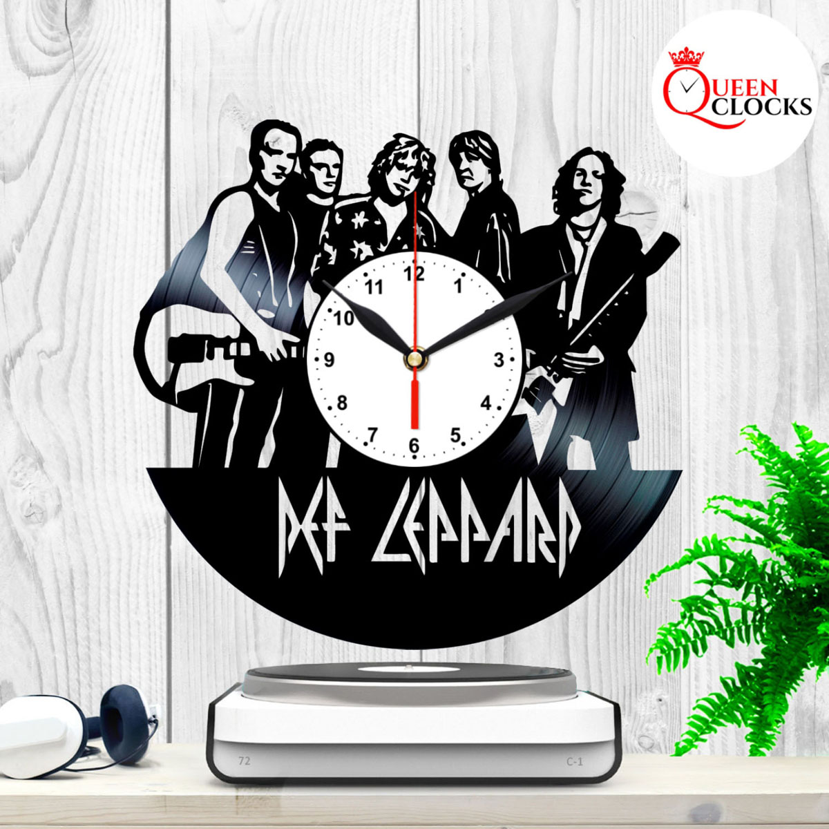 Unusual Clock Details About Def Leppard Hysteria Item Lp Music Vinyl Record Wall Clock Unusual Gift Ideas