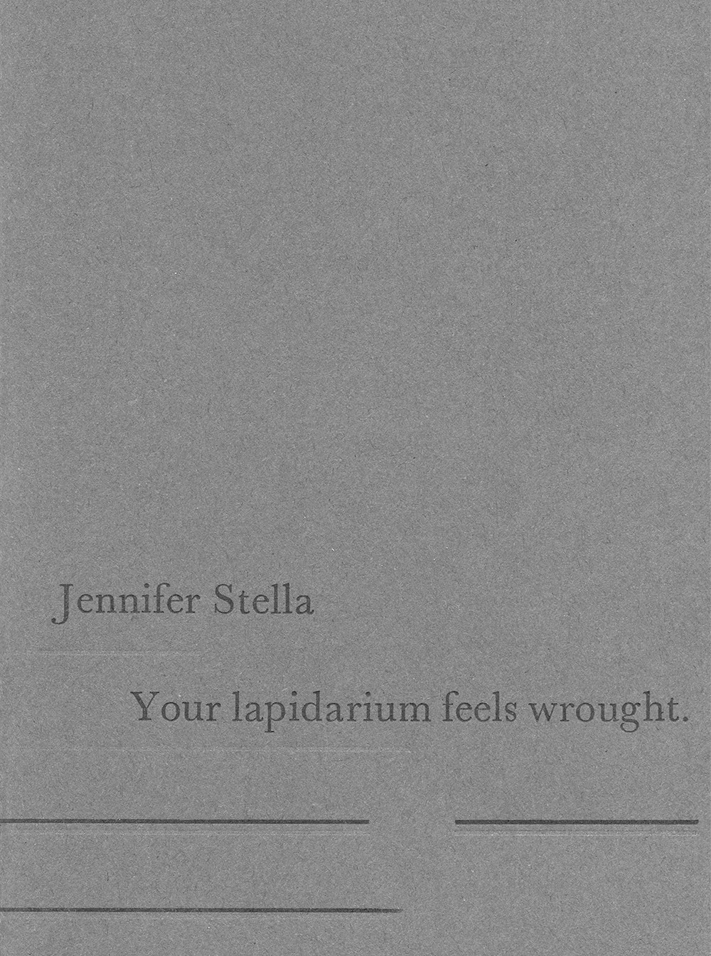 Stella Black Review Poetry Review Your Lapidarium Feels Wrought By Jennifer Stella
