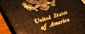 Pasaporte estadounidense.