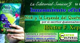 Centro Cultural Barco de Papel lanza libro de guatemalteco Héctor F. Xep