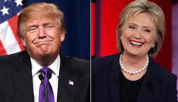 Republicano Donald Trump y demócrata Hillary Clinton.