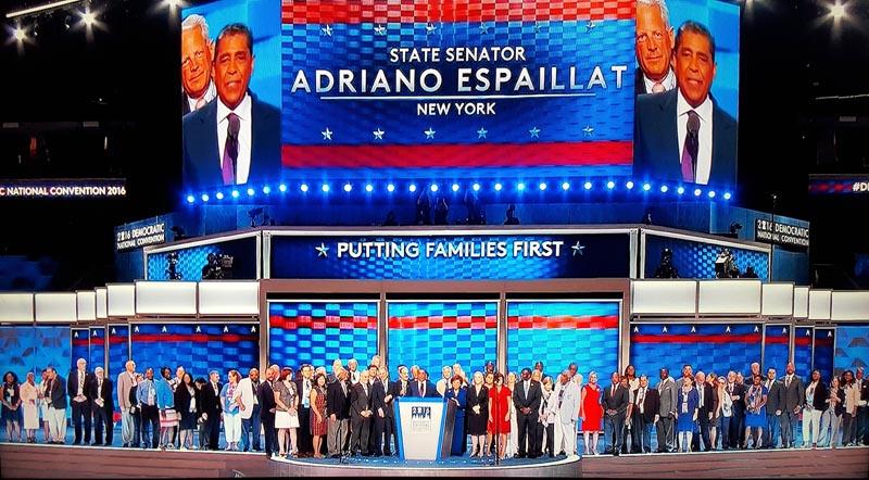 Adriana Espaillat, quien reeplazará al congresista Charles Rangel el próximo enero como está previsto, fue el centro de atracción el primer día de la Convención Demócrata 2016 en Filadelfia.