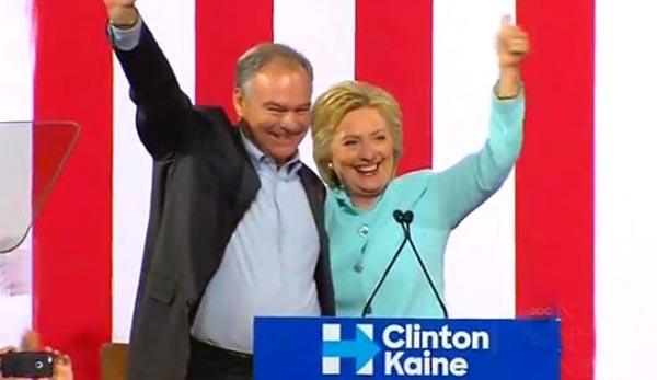 Clinton escoge a Tim Kaine como su candidato a la vicepresidencia