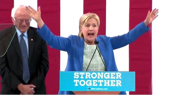 Sanders claudica ante Hillary Clinton