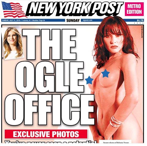 Fotos desnudas de esposa de Trump quien comienza a caer en encuestas