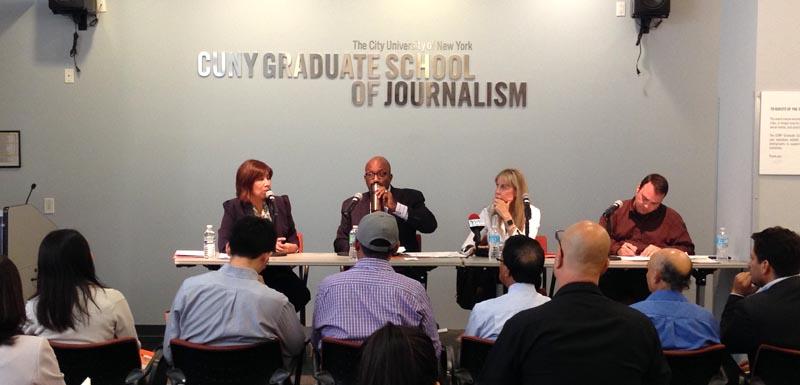Desde la izquierda, Lorelei Salas, Errol Louis, Gail Smith y Gregg McQueen.