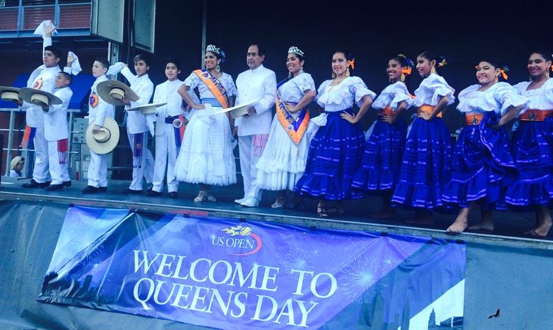 El folclore latino se hizo presente este año en el US Open. Foto Marcela Alvarez