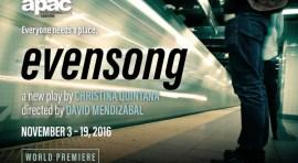 Obra Vísperas se estrena en el Astoria Performing Arts Center del 3 al 19 de noviembre