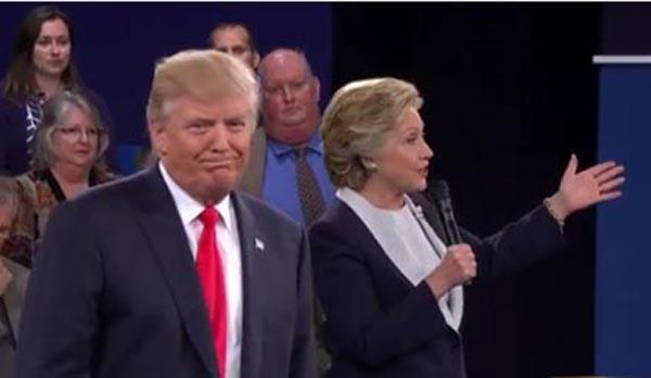 Trump y Clinton debaten de lo mismo y no convencen
