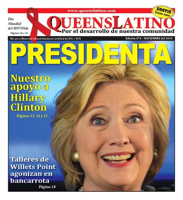 Nuestro voto es demócrata: Por Hillary Clinton