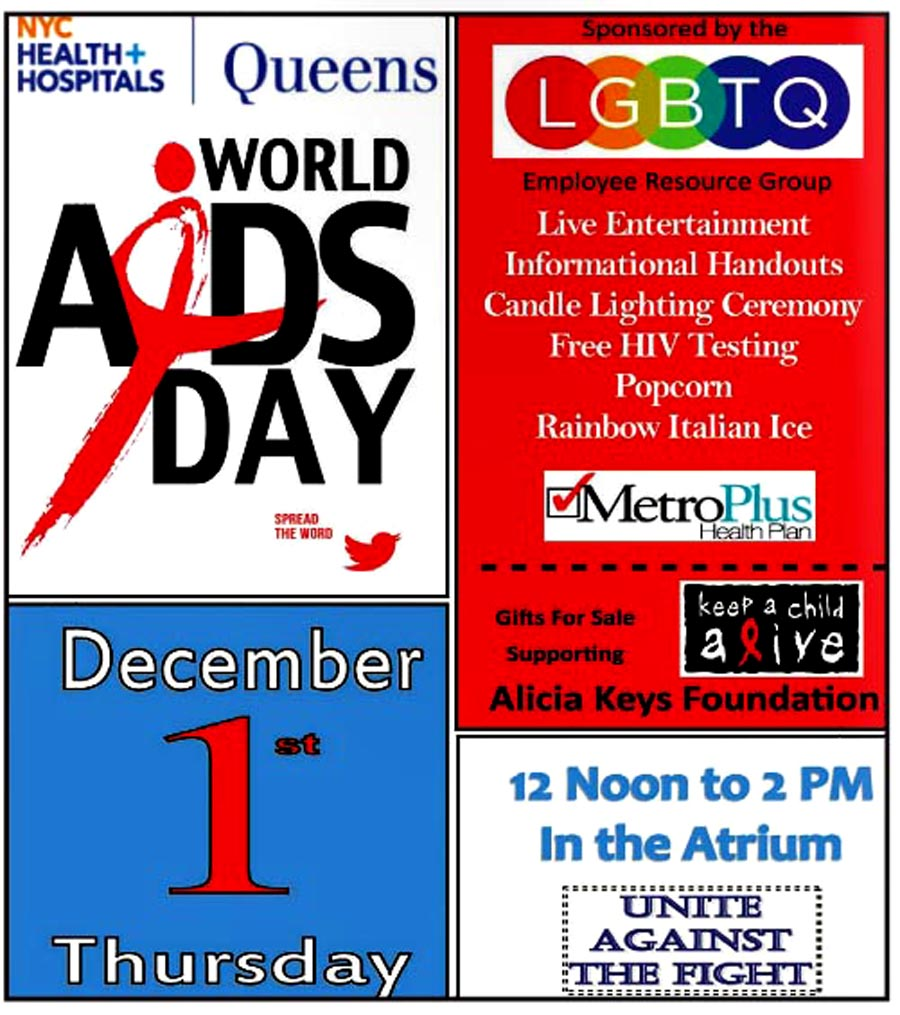 World Aids Day NYC Helath Hospitals Queens