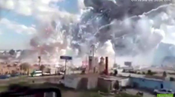 Más de 20 muertos por explosión de juegos artificiales en México