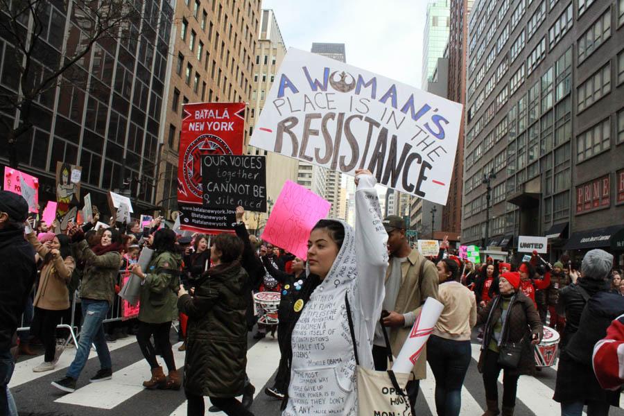 Las mujeres exhibieron orgullo y poder de lucha. FotoHumberto Arellano