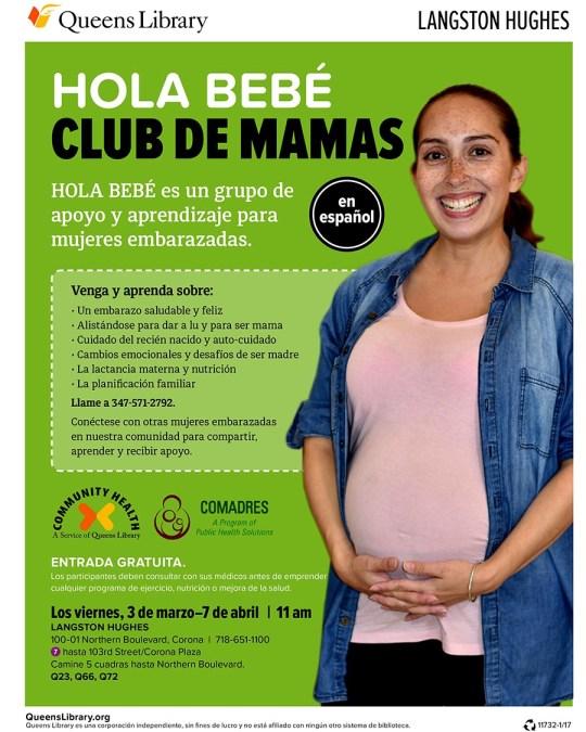 Biblioteca de Queens ofrece gratis grupo de apoyo para señoras embarazadas 'Hola Bebé: Club de Mamás'