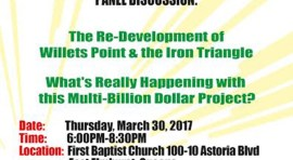 Town Hall Meeting on East Elmhurst this Thursday to Discuss Willets Point